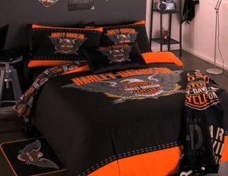 Harley Davidson 2 Pce Single Size Quilt DOONA Cover Set Licensed New
