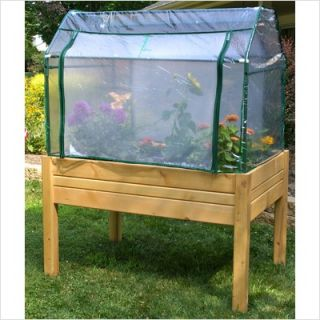 Eden Mini Greenhouse System 3 x 4 Wooden Garden Greenhouse and Herb