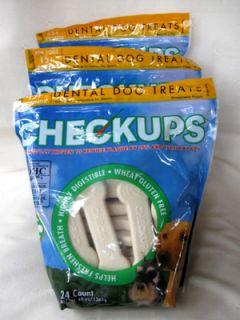 12 lbs Checkups Dental Dog Chews Bones 96 Count