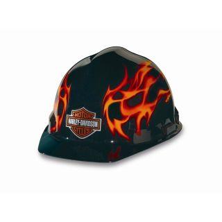 Harley Davidson RHDHHAT10K Flames Hard Hat Standard Safety Works