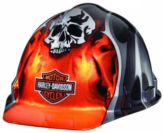 Harley Davidson Hard Hat Skull Flames Design HDHHAT30
