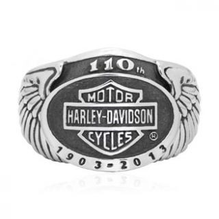 HARLEY DAVIDSON 110TH ANNIVERSARY RING MENS SIZE 12 HDAN R03 12