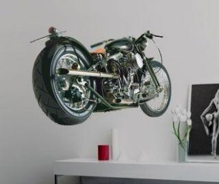 Vinyl Wall Decals Harley Davidson motorbike Removable Stickers