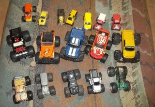 Monster Truck Diecast Lot 17 Grave Digger Ford Dodge Jeep Masters of