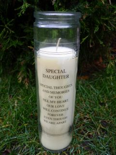 Memorial Gift Grave Candle
