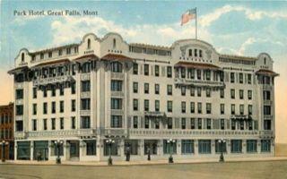 Great Falls Montana Park Hotel Postcard