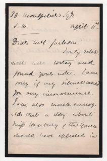 English Author Violet Greville Autograph Letter Signed