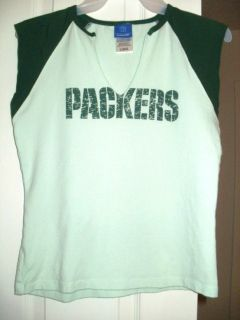Green Bay PACKERS Reebok Super cute Womens Ladies sleevelss shirt tank