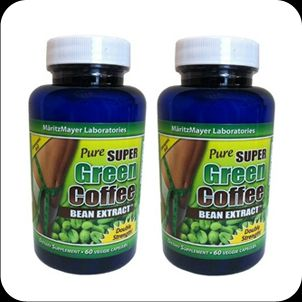 In Stock Pure Super Green Coffee Bean Extract 2 Bottles