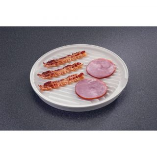 New Nordic Ware Bacon Grill Plate Microwave Plate 2 Sided Nordicware