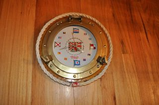 Unique Nautical Design Wall Clock Grimaldi United Kingdom Flags