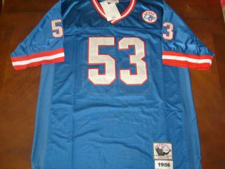 New York Giants Harry Carson 1986 Blue Jersey 2XL Throwback Spider