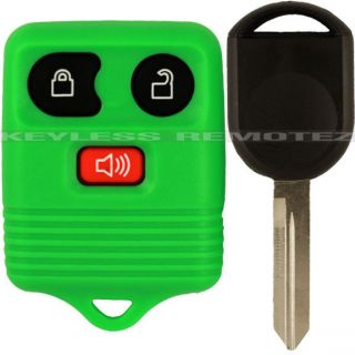 New Green Ford Keyless Remote Uncut Transponder Ignition Chipped Key