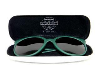Vintage Vuarnet 002 Green Retro Cat Eye Cats Sunglasses