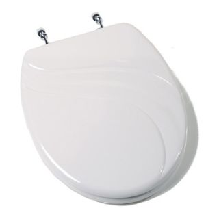 Comfort Seats Seahorse Acrylic Toilet Seat with Chrome Hinges