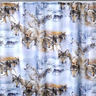 Bella by Fine Art Creations Wolves Crossing Shower Curtain   2010
