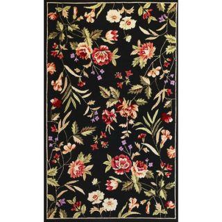 KAS Oriental Rugs Sonesta Black Floral Rug   2009