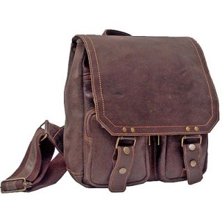 David King Imperial Leather Laptop Messenger Bag
