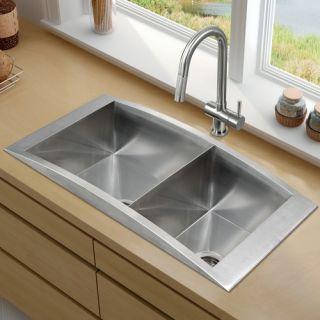 Elkay Avado 30.75 x 18.5 Double Bowl Covered Corners Sink Set