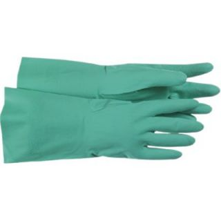 Nitrile Gloves   flocked lined green nitrile 16 gage glove   1UH0027L