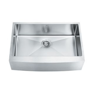 Vigo Single Bowl 16 Gauge Stainless Steel Farmhouse Kitchen Sink