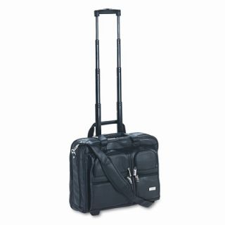Rolling Leather Laptop Case For Up To 15 1/2 Laptop, Black