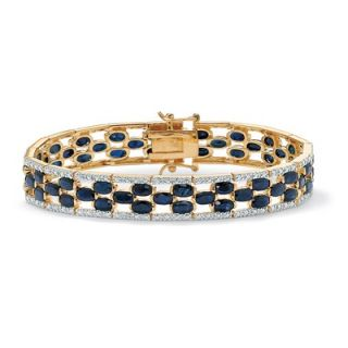 Palm Beach Jewelry Oval Cut Sapphire Tennis Bracelet