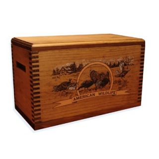 Evans Sports Wooden Accessory Box With Wildlife Series Turkey Print