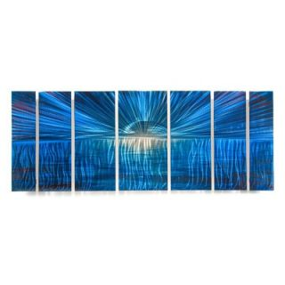 Abstract by Ash Carl Metal Wall Art in Blue   23.5 x 60   SWS00072