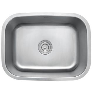 Stainless Steel 16 Gauge Undermount 23 Single Bowl Kitchen Sink