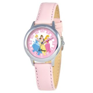 Disney Kids Princess Time Teacher Watch in Pink Leather   W000057