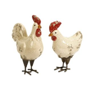 IMAX Quinn Roosters Figurine (Set of 2)