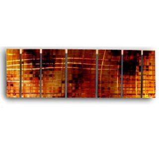Abstract by Ash Carl Metal Wall Art in Red   23.5 x 60   SWS00032