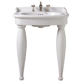 Porcher Savina II 27 Console Bathroom Sink   30058 00