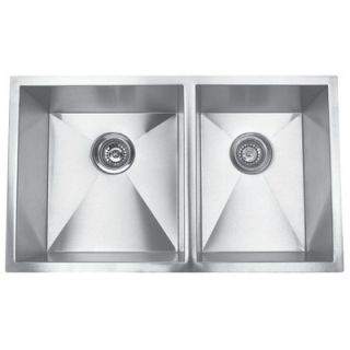 Steel Double Sink   31 x 18 with Optional Cutting Board   EEGUH3118