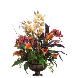 Tori Home 31 Cymbidium, Phalaenopsis, Calla Lily and Berry Floral