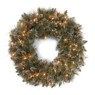 National Tree Co. Glittery Bristle Pine Pre Lit 30 Wreath