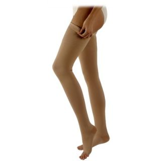 Sigvaris 500 Natural Rubber 30 40 mmHg Open Toe Unisex Thigh High Sock