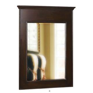 Belle Foret Landscape 40 x 30 Bathroom Vanity Mirror in Espresso
