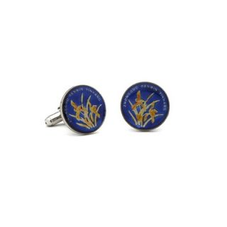 Penny Black 40 Hand Painted Chinese One Jiao Coin Cufflinks   PB 108