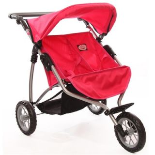 The New York Doll Collection Doll Twin Jogging Stroller