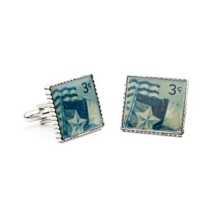 Penny Black 40 Texas Statehood Air Mail Stamp Cufflinks   PB 938 SL
