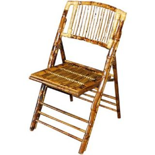 Commercial Seating Products Bamboo Folding Chair   BO 101 SB