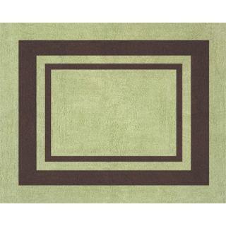Sweet Jojo Designs Green and Brown Hotel Floor Rug   Rug Hotel GR CH