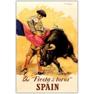 Fiesta de Toros Spain, Traditional Canvas Art   47 x 35