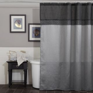 Lush Decor Geometrica Shower Curtain in Black / Silver