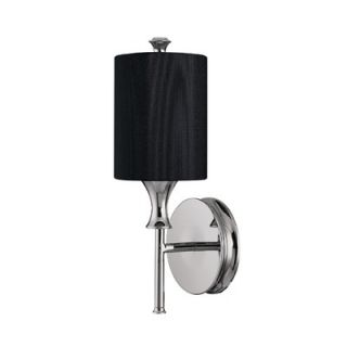 Capital Lighting Studio One Light Wall Sconce with Black Shade in