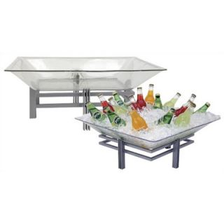 Buffet Enhancements Large Acrylic Ice Display Tray with Drain