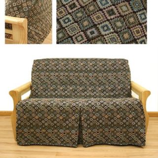 Easy Fit Navajo 5 Piece Full Skirted Futon Cover Set   31 628 55