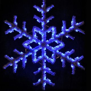 Holiday Lighting Specialists 60 Hanging Garland Snowflake in